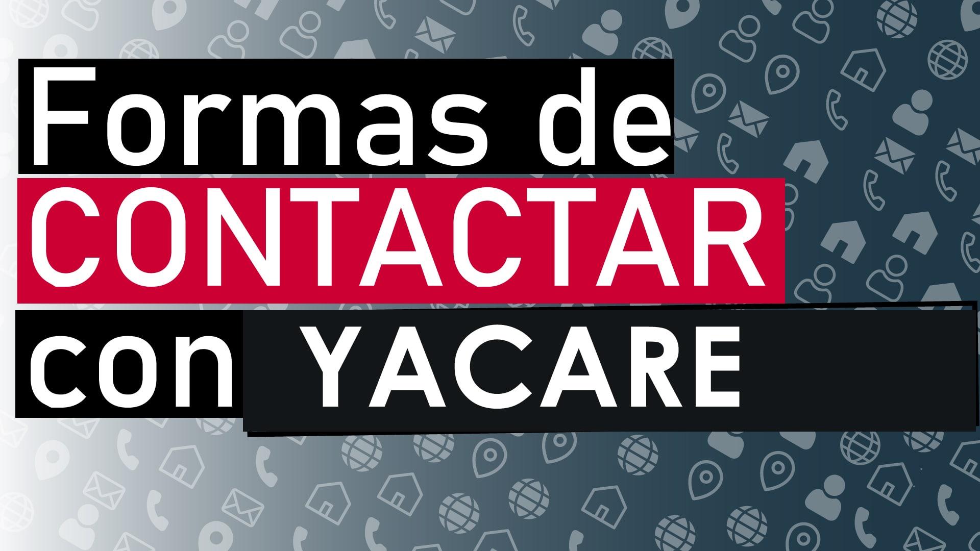 contactar con yacare